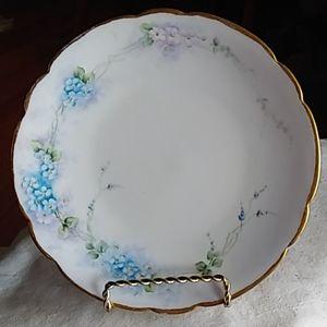Limoges handpainted floral plate